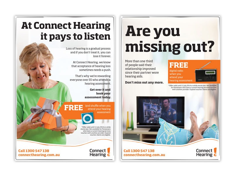 Connect Hearing full page ads