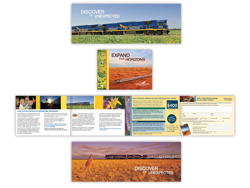 Indian Pacific direct mail designs