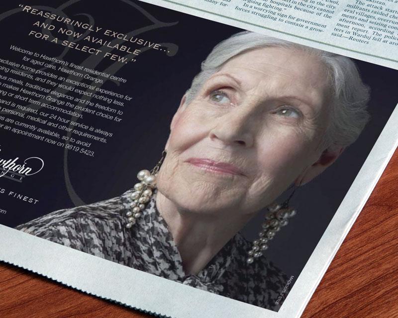 Hawthorn Grange newspaper ad