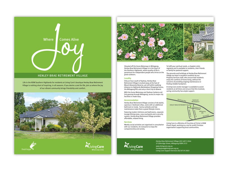 Living Care retirement brochure