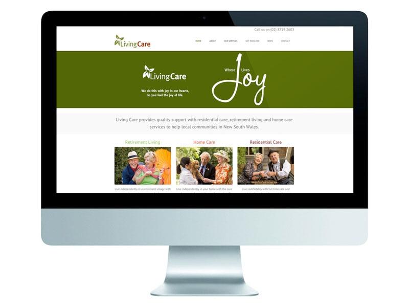 Living Care website