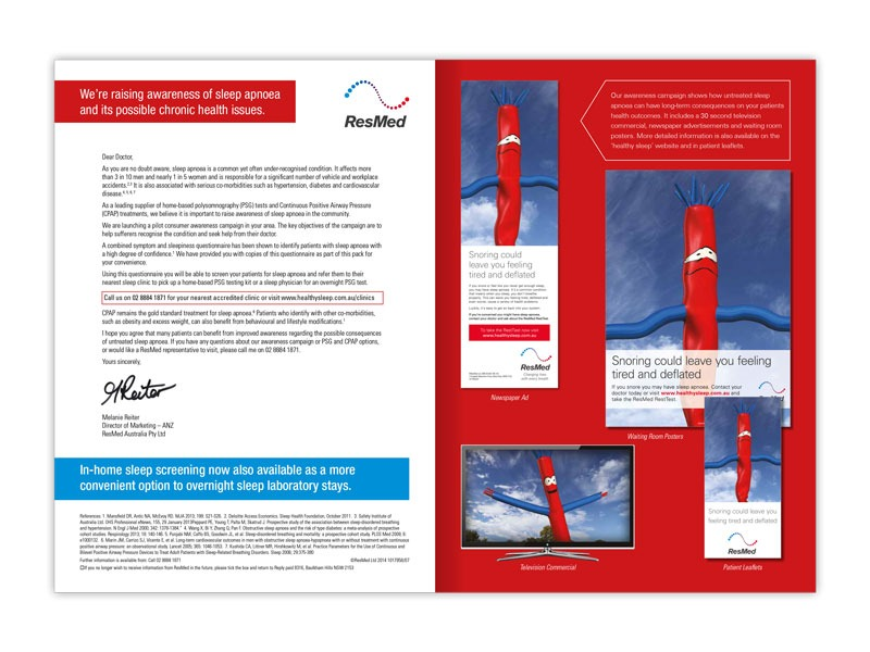 ResMed inflateable letter and direct mail