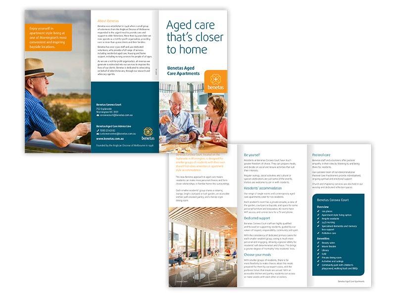 Benetas Aged Care dl brochure
