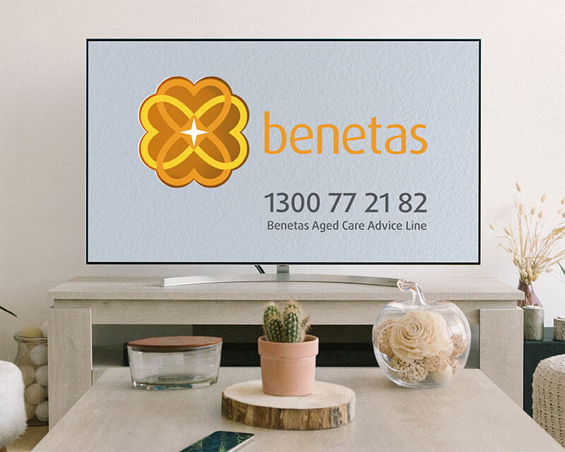 Benetas television commercial end frame