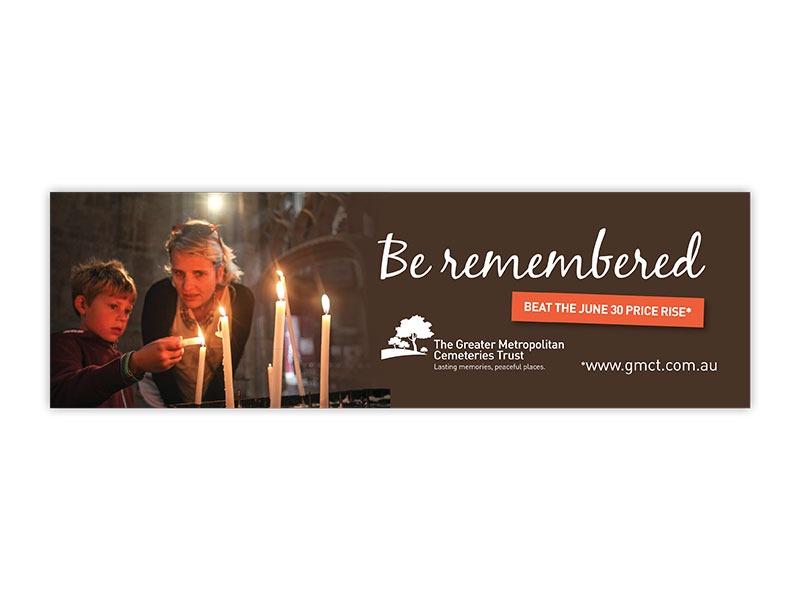 Greater Metropolitan Cemeteries Trust billboard