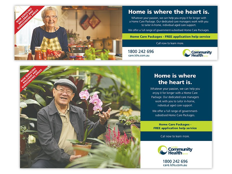 Latrobe Community Health quarter and half page ads
