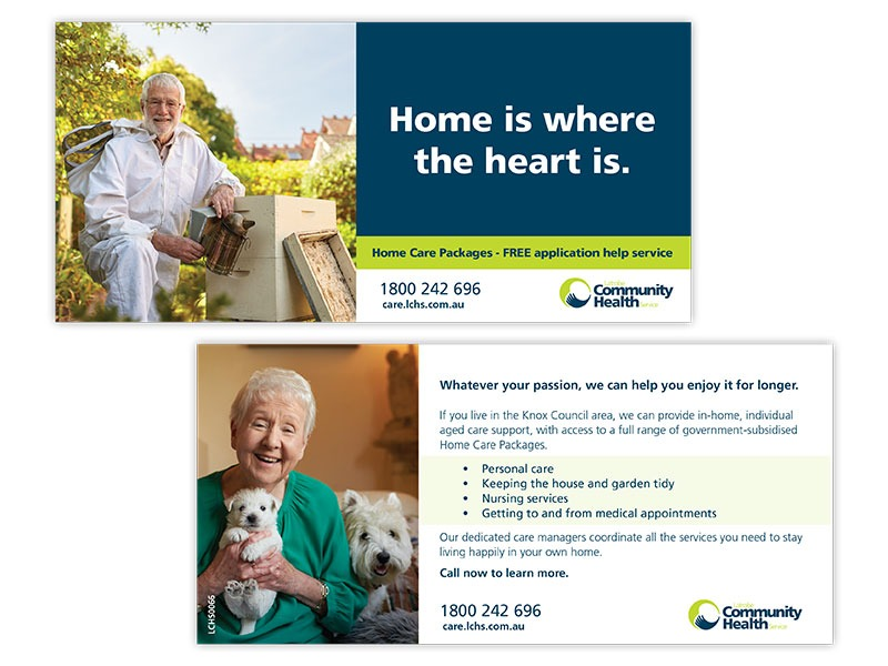 Latrobe Community Health direct mail layouts