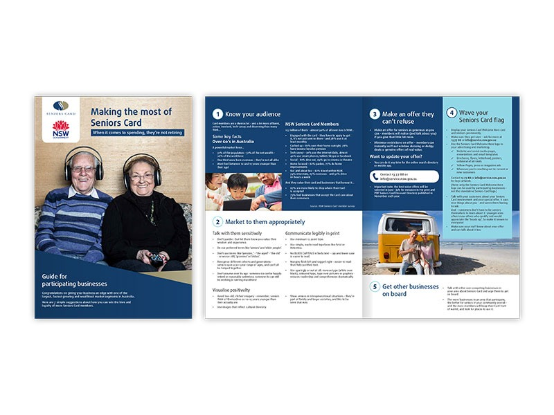 NSW Seniors Card how to brochure