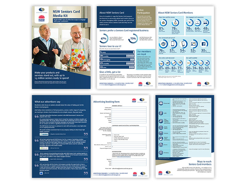NSW Seniors Card media kit pages