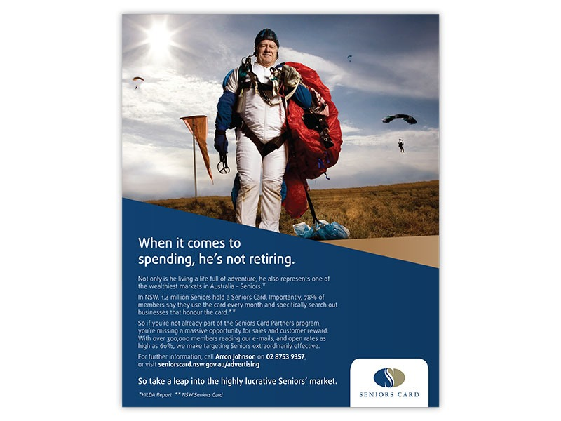 NSW Seniors Card full page ad